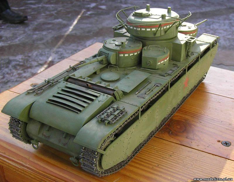 сборка модели танка т-35 от звезды